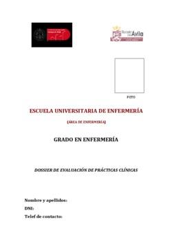 Dossier de evaluación de Prácticas Clínicas